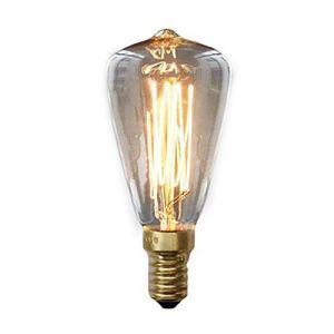 sodial Ampoules Edison Vintage E14 220V ST48 Ampoules incandescentes 25W 40W 60W Lumiere de filament retro Edison Pour Lampe a suspension