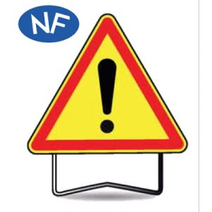 Taliaplast 522005 - Panneau signalisation danger attention danger ak14 t1 1000mm
