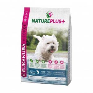Eukanuba Natureplus - Croquettes avec saumon pour chien adulte de petite race - Sac 2,3 kg