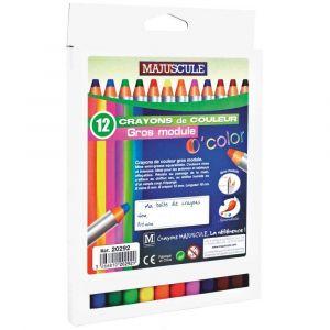 Majuscule Crayons De Couleur Gros Module 8mm - Boite De 12