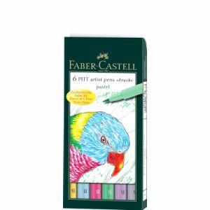 Faber-Castell Pitt Artists Pen Pinceau Pastel (Mallette de 6)