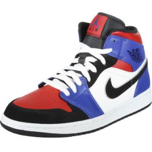 46e92ffa71a Nike Chaussure Air Jordan 1 Mid pour Homme - Blanc - Couleur Blanc - Taille  46