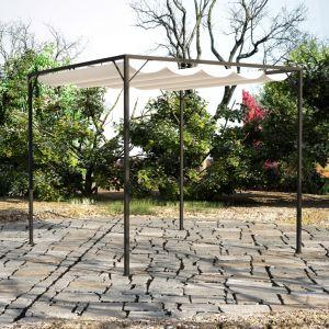 VidaXL 40786 - Tonnelle de jardin en acier avec auvent rétractable