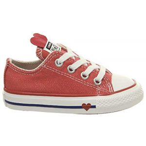 Converse Chaussures casual Chuck Taylor All Star basses en toile à lacets Sucker for Love Rouge - Taille 24