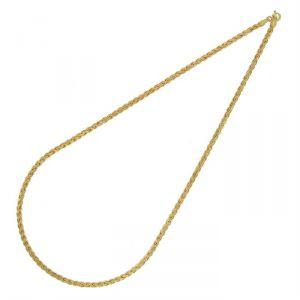 Rêve de diamants CDMC421 - Collier maille palmier plate en or jaune 375/1000