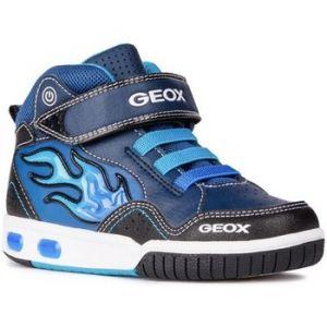 Geox Jr Gregg C, Baskets Hautes garçon, Bleu (Navy/lt Blue C0693), 33 EU