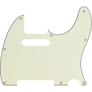 Fender Plaque de protection style moderne Tele Mint Green 3 plis 8 trous