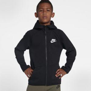 Nike Sweat à capuche entièrement zippé Sportswear Tech Fleece pour Garçon plus âgé - Noir - Taille L