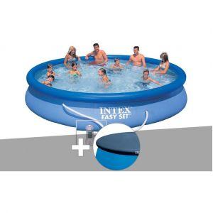 Intex Kit piscine autoportée Easy Set 4,57 x 0,84 m + bâche de protection