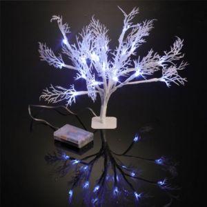 Arbre de table lumineux 20 feuilles LED
