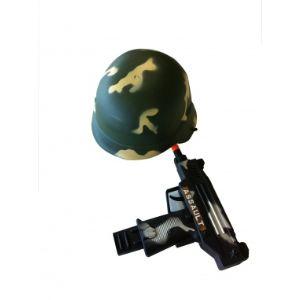 Casque et arme militaire enfant