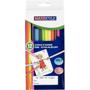 Majuscule Crayons de couleur - Boite de 12