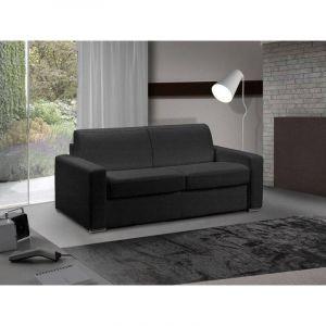 INSIDE Canapé lit 3 places MASTER convertible système RAPIDO 140 cm Tweed Cross noir MATELAS 18 CM INCLUS