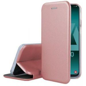 Ibroz Etui Samsung A50 Cuir rose poudré