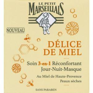 Le Petit Marseillais Délice de miel - Soins 3-en-1 réconfortant jour-nuit masque