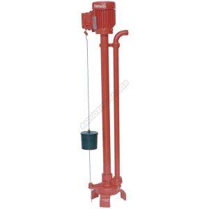 pompe de relevage gv28m pour eaux claires à ligne d-arbre. d 26x34. diamètre de passage 5mm. puissance moteur 0.37kw. monophasé