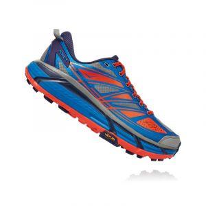 Hoka One One Mafate Speed 2 Imperial Blue Mandarin Red Chaussures de trail Homme