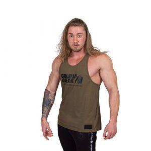 Gorilla wear Gym Shirt Homme - Débardeur Classique Stringer - S à 3XL Bodybuilding Muscle Fitness Muscle Shirt Army Green XXL