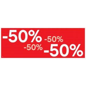 APLI 14037 - Affiche préimprimée -50% , format 69x24 cm