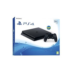 Sony Console PlayStation 4 Slim 500 Go - Jet Black (+ 3 mois PS plus)