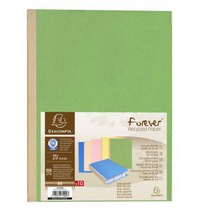Exacompta 771000E - Paquet de 10 chemises à soufflet FOREVER, coloris assortis 5 teintes