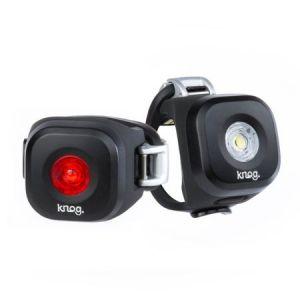 Knog Éclairage AV et AR Blinder Mini Twinpack Dot LED USB Noir