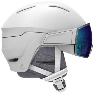 Salomon Casques Mirage+ - White / Blue Solar - Taille 53-56 cm