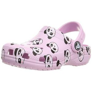Crocs Classic Panda Print Clog, Sabot Mixte Enfant - Rose