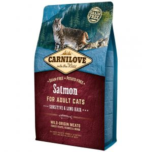 Carnilove Adult Sensitive & Long Hair Salmon - Sac 400 g