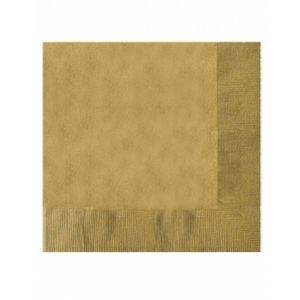 20 serviettes papier or 12,5 x 12,5 cm