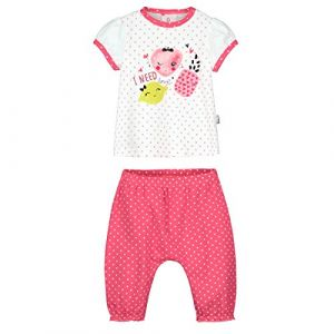 61da99ea4dc1c Petit Béguin Ensemble bébé fille t-shirt + sarouel Strawberry - Rose -  Taille 24