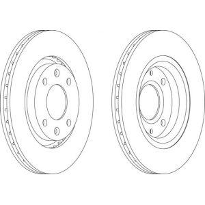 Ferodo DDF1140 - Jeu de 2 disques de frein