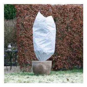 Atout Loisir Lot de 2 housses d'hivernage incl. cordelette de serrage - PP, vert, 50 gr/m² - Ø75 cm x 1,50 m