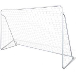 VidaXL Set de but football avec poteaux et filet 240 x 90 150 cm FR, neuf)