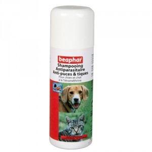 Beaphar Shampooing antiparasitaire pour chien anti-puces et tiques à la Tétraméthrine