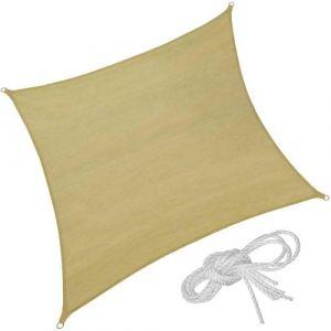 Image de Voile d'ombrage taud de soleil 5,4 x 5,4 m mobilier de jardin