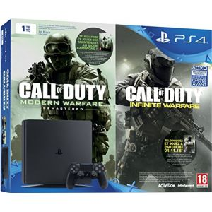 Sony PS4 Slim 1 To + Call of Duty : Infinite Warfare + Modern Warfare Remastered - Edition Legacy