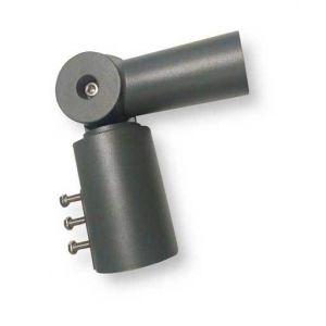V-TAC Adaptateur en aluminium noir angle réglable 120° pour Réverbère LED Mod. VT- 795