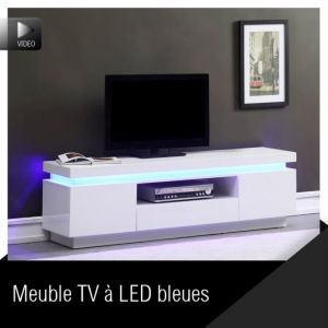 Flash - Meuble TV avec led L165 cm