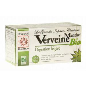 Dayang Verveine menthe bio digestion légère - Boîte de 20 sachets