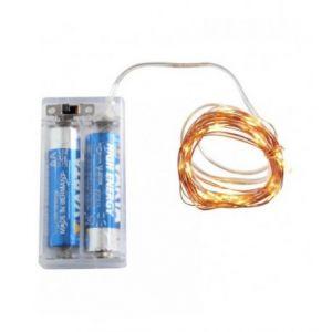 Guirlande (2m) cuivrée 20 LED (à piles)