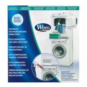 Wpro SKS100 - Kit universel de superposition lave-linge/sèche linge