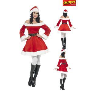 Smiffy's Déguisement Mère Noël Miss Santa (taille S, M ou L)