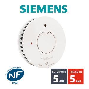 Siemens Détecteur de fumée NF Delta Reflex 5TC1292-1 Autonomie et Garantie 5 ans