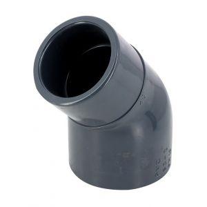 Image de Coude 45° réduit PVC pression à coller MF Ø63-50 - Catégorie Raccord PVC pression