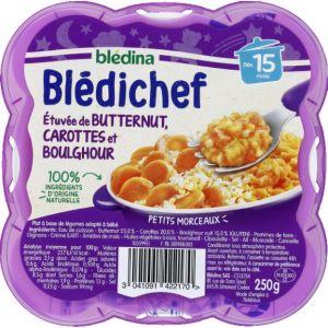 Blédina Bledichef 250g etuvée de butternut, carottes et boulghour dès 15 mois