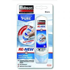 Image de Rubson Re-new Pure (100ml) - Mastic pour sanitaires, cuisine et salle de bains