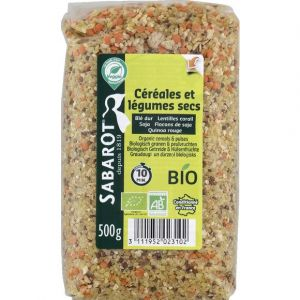 Sabarot Mélange légumes secs/céréales bio cello