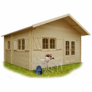 Solid S8971 - Abri de jardin Weekend en bois 40 mm 23,30 m2