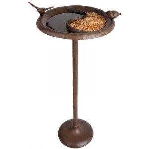 Esschert design Baignoire / Mangeoire pour oiseaux 24,2 x 24,2 x 57,5 cm